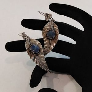 Handcrafted Silver and Lapis Earrings